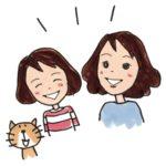 ママと女の子イラスト
